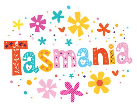 tasmania: Tasmania lettering decorative type