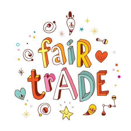 trade fair: fair trade fancy word on white