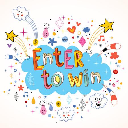 Enter om te winnen Vector Illustratie