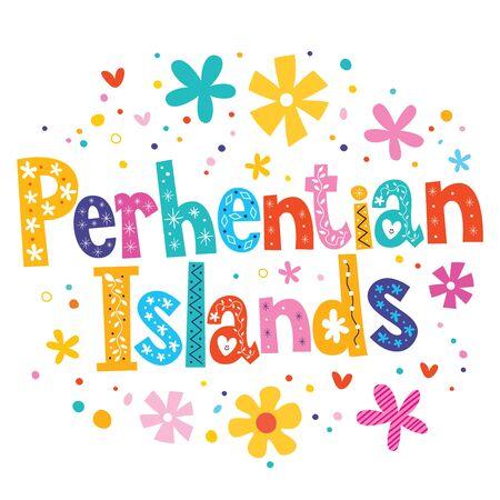 perhentian: Perhentian Islands vector lettering decorative type