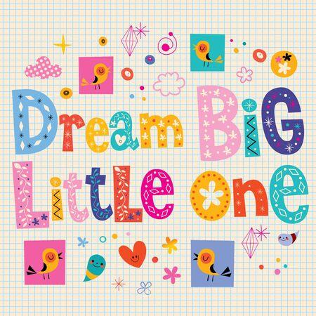little one: Dream big little one - nursery room wall decoration nursery wall art