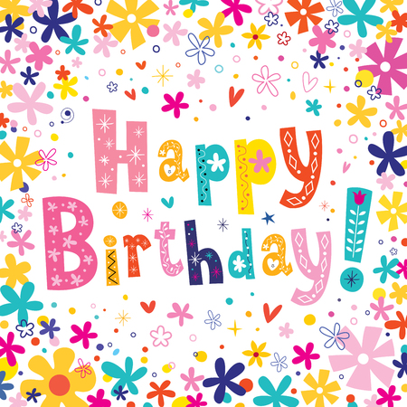 title emotions: Happy Birthday greeting card