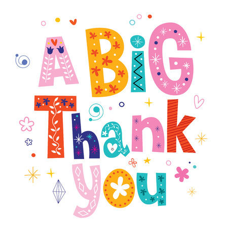 A big thank you greeting card royalty free cliparts vectors and a big thank you greeting card stock vector 54758850 m4hsunfo