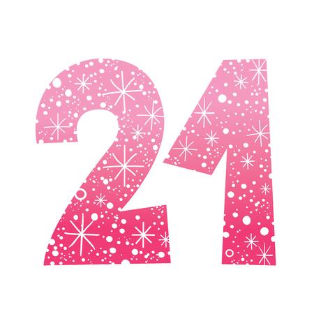 first birthday: number twenty one Illustration