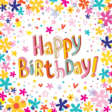 felicitaciones cumplea�os: Happy Birthday greeting card