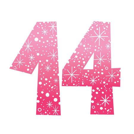 fourteen: number fourteen