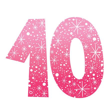 celebratory: celebratory number ten for birthdays anniversaries celebrations