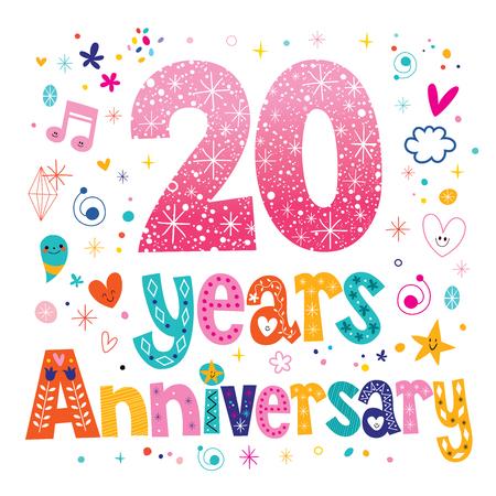 twenty years anniversary celebration Ilustração