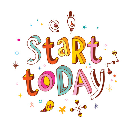believer: start today - inspirational vector typography unique hand lettering motivational printable quote