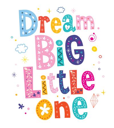 little one: Dream big little one - kids nursery art