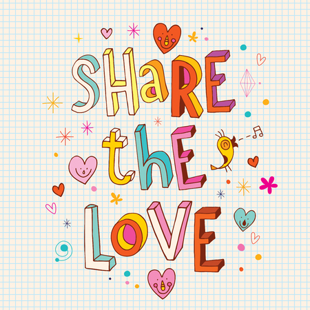 sharing: Share the love Illustration