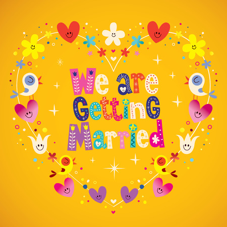getting married: We are getting married Illustration
