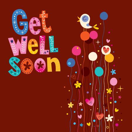 well: Get well soon greeting card