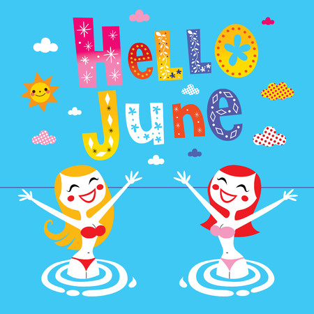 june: Hello June Illustration