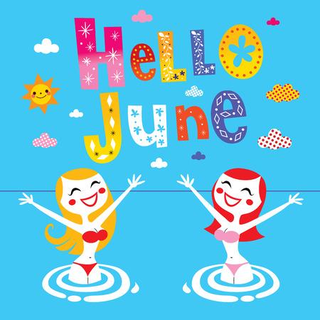 june: Hello June Illustration
