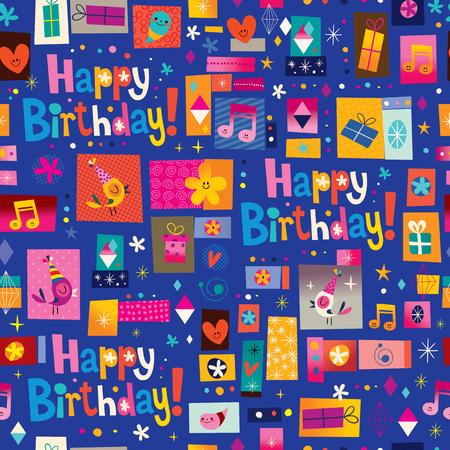 Joyeux anniversaire seamless bon pour le papier d'emballage cadeau