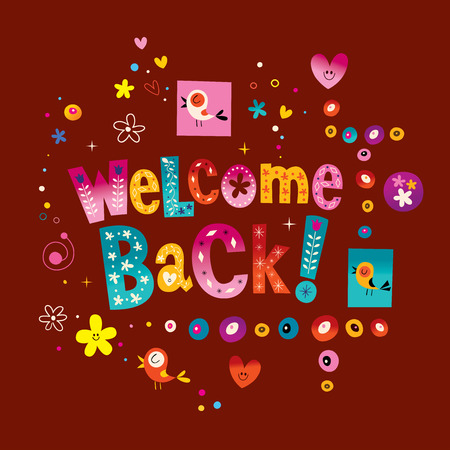 welcome back greeting card Illustration
