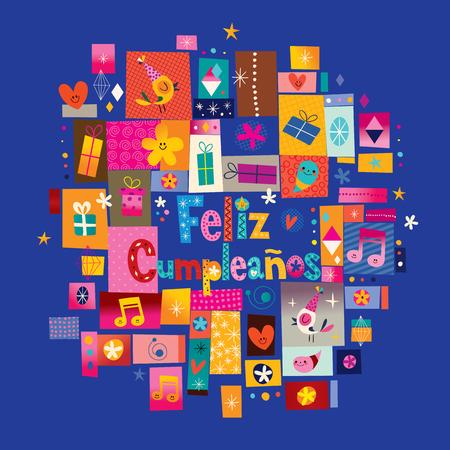 feliz: Feliz Cumpleanos - Happy Birthday in Spanish greeting card