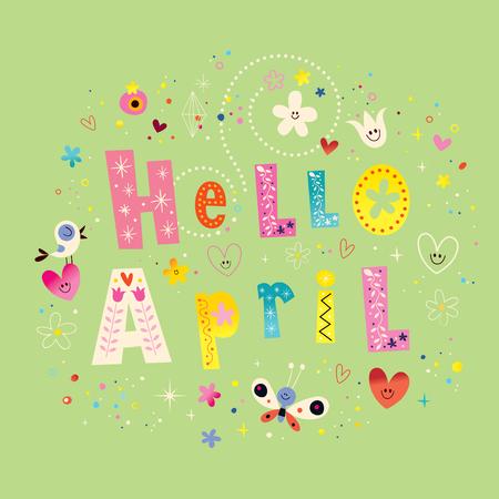 hello heart: Hello April Illustration