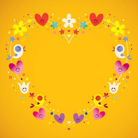 shaped: heart shaped love frame Illustration