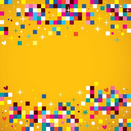 fun pixel pleinen achtergrond ontwerp element Vector Illustratie