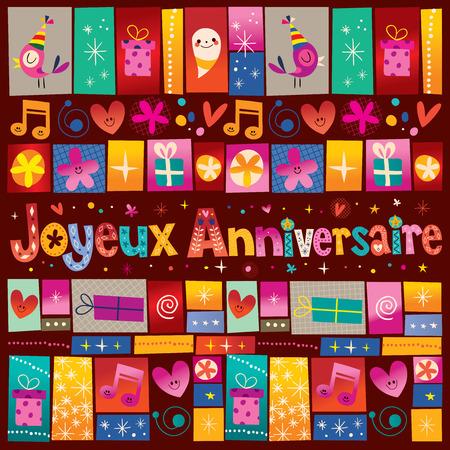 joyeux: Joyeux Anniversaire Happy Birthday in French
