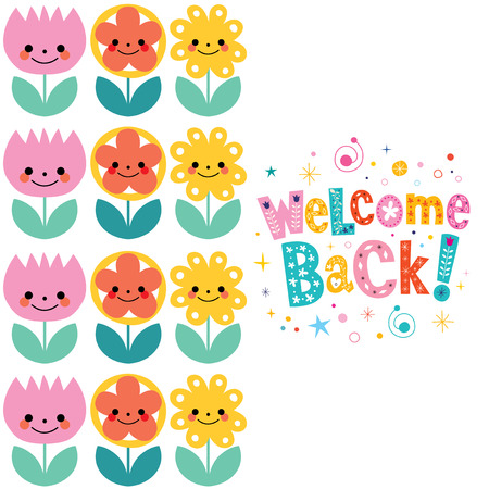 welcome home: welcome back card Illustration