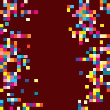 hearts background: fun pixel squares background design element Illustration