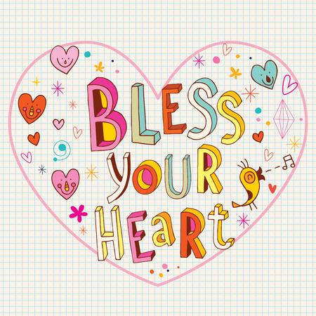 Bless your heart Illustration
