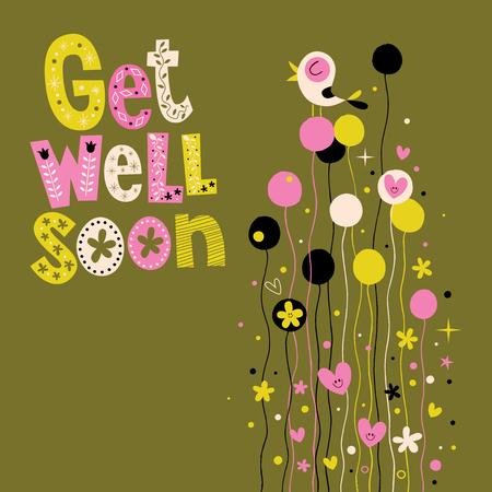 get well soon: Get well soon greeting card