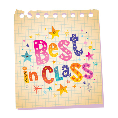 best message: Best in class notepad paper message with unique hand lettering