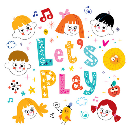 lets party: lets play Illustration