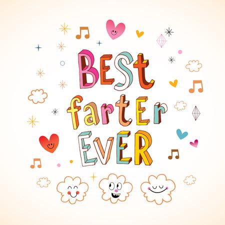 fart: Best farter ever greeting card