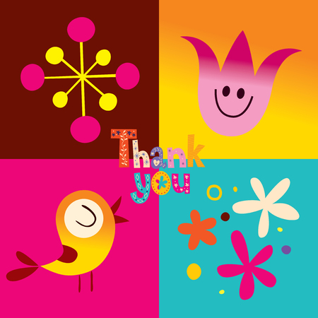 thank you greeting card Illustration