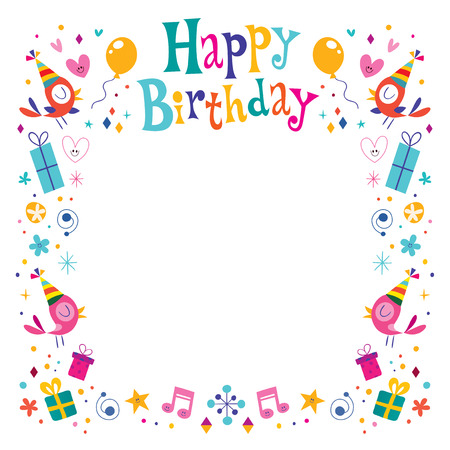 Happy Birthday decorative border frame