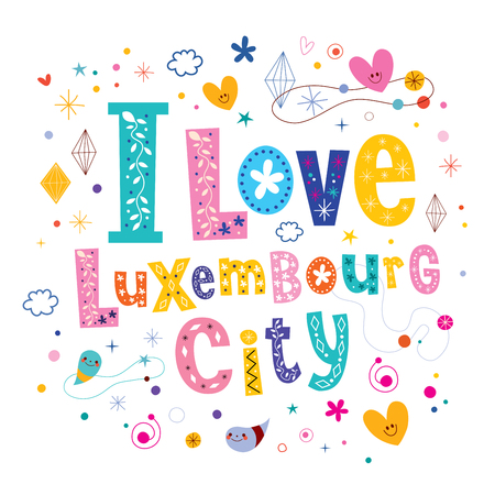 luxembourg: I love Luxembourg City Illustration