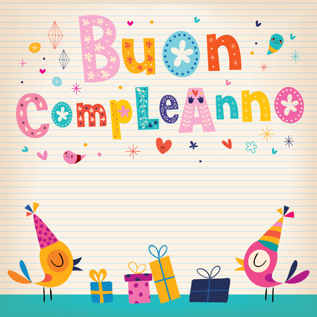 Buon compleanno Happy birthday in Italian card