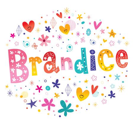 reese: Brandice girls name decorative lettering type design