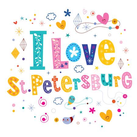 st  petersburg: I love St Petersburg city in Russia