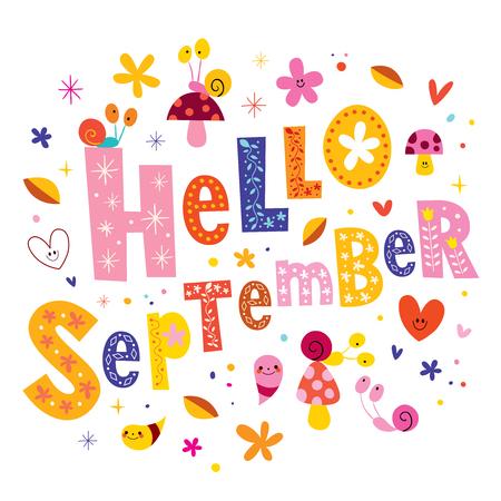 greeting: Hello September greeting card