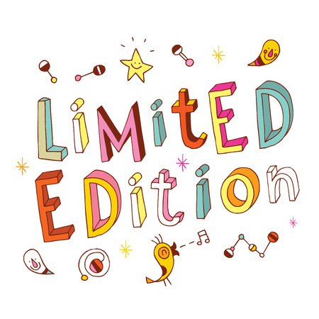 Limited edition unique hand drawn type text Illustration