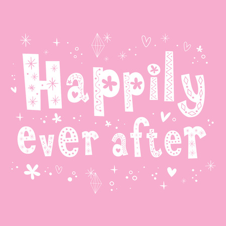 happily: Happily ever after unique lettering design
