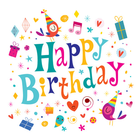 happy kids: Happy Birthday kids greeting card