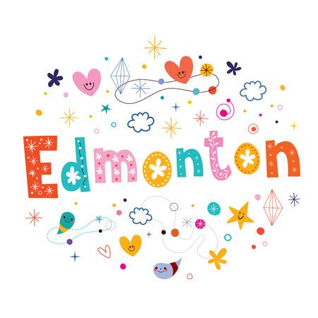 edmonton: Edmonton city in Canada decorative unique type design