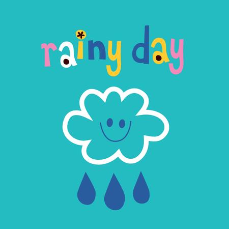 rainy day Ilustração