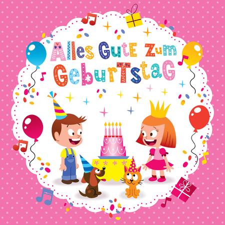 Alles Gute Zum Geburtstag Deutsch German Happy Birthday Greeting