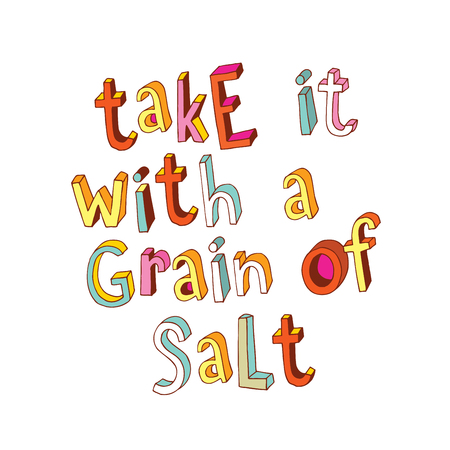 Take it with a grain of salt Ilustrace