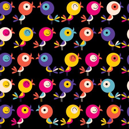 cute bird characters seamless pattern Banco de Imagens - 76706057