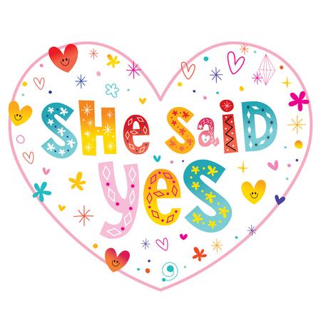 She said Yes Ilustrace