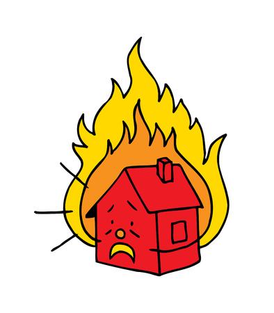 heat loss: burning house